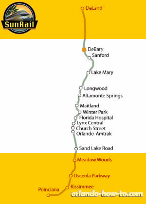 DeBary SunRail Station Map