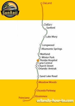 Florida Hospital Health Village SunRail Station Map