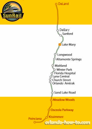 Lake Mary SunRail Station Map