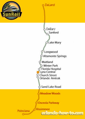 Lynx Central SunRail Station Map