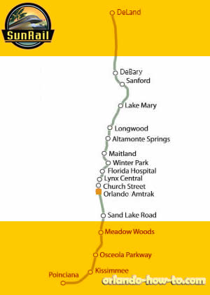 SunRail Orlando Health / Amtrak Station Map
