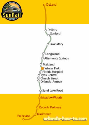 Winter Park SunRail Station Map